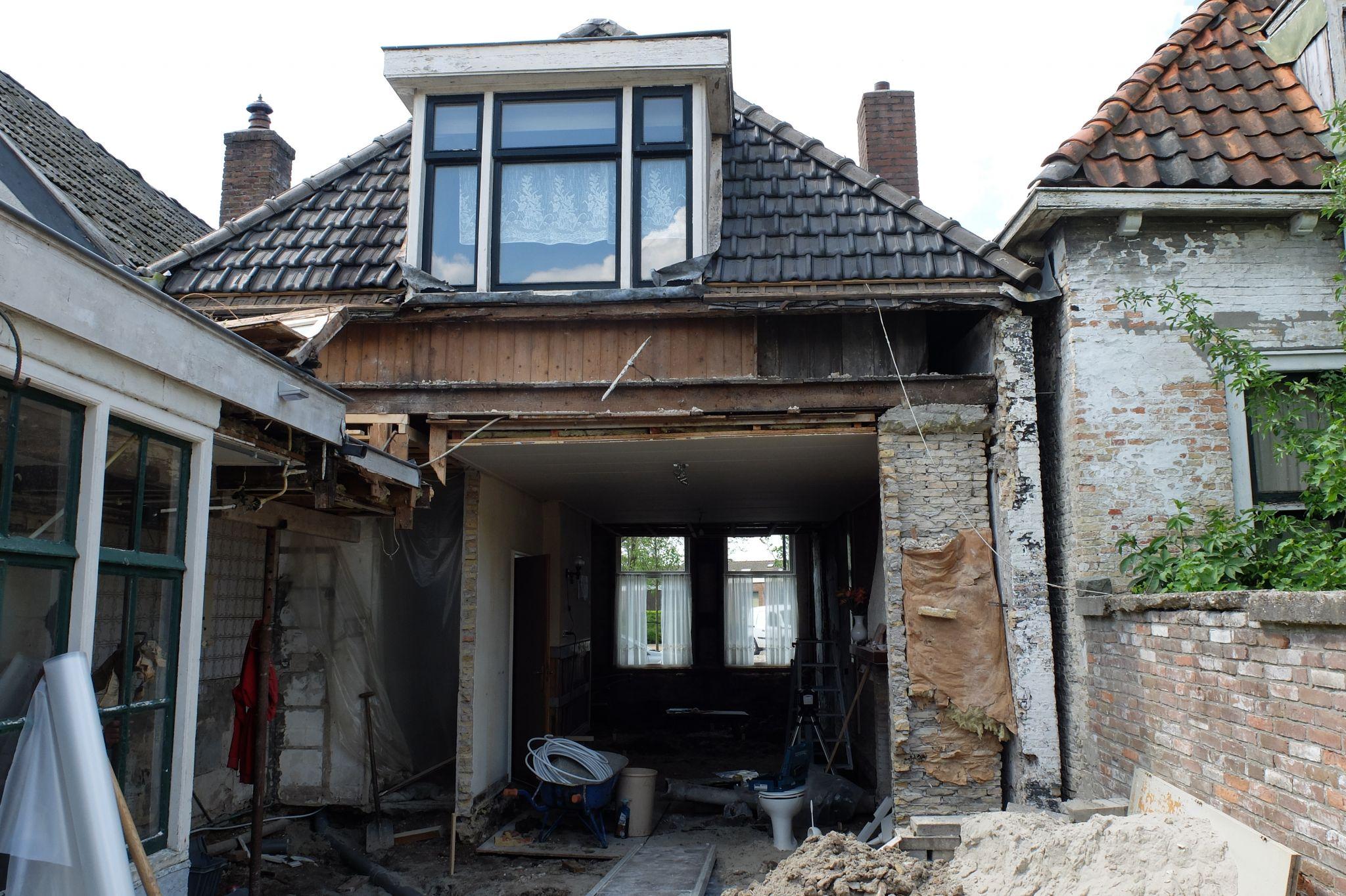 Woonhuis verbouwen in bolsward 2016 hofstra bouw for Tuin verbouwen