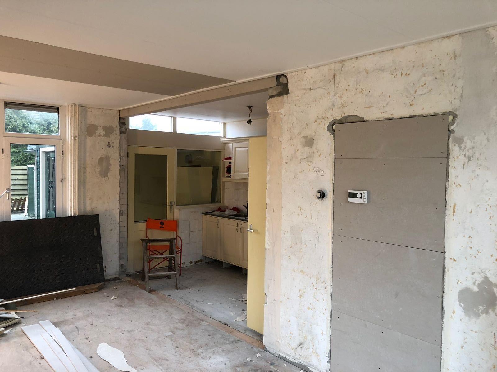 Woonkamer en keuken verbinden in Arum (2018) - Hofstra Bouw